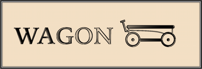 Wagon's old time-y logo